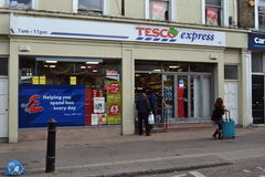 Tesco Express store Royalty Free Stock Image