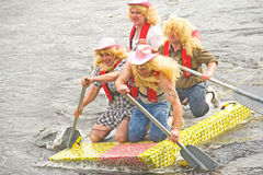 Tesco 'Lady Boys' on the river Ness. Stock Photos