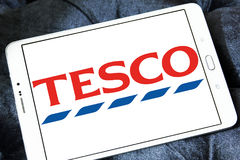 Tesco logo. Logo of the international chain of convenience stores tesco on samsung tablet Royalty Free Stock Photography