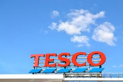 Tesco logo supermarket Stock Photography