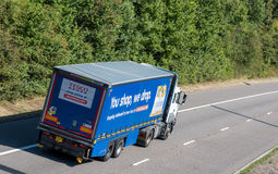 Tesco lorry on the road Royalty Free Stock Photography