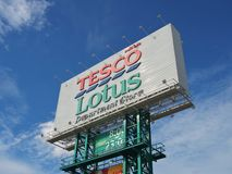 Tesco lotus signage Royalty Free Stock Photography