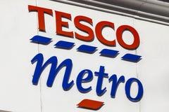 Tesco-Metro Embleem stock afbeeldingen