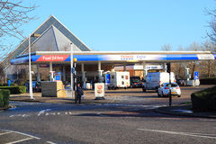 Tesco petrol station. Stock Photo