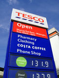 Tesco petrol station sign Stock Photography