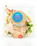 Tesco Prawn Layered Salad, fresh ready to eat meal. Stock Photo