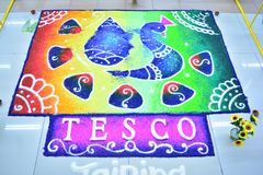 Tesco& x27;s diwali art royalty free stock photos