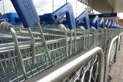 Free Tesco Shopping Carts Royalty Free Stock Photography - 72399627