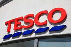 Tesco Sign Royalty Free Stock Photo