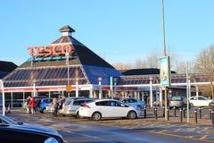 Tesco-Speicher, Bedford, Großbritannien. Lizenzfreies Stockbild