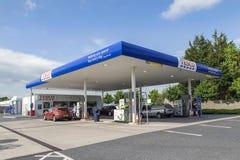 Tesco stacja benzynowa Obraz Royalty Free