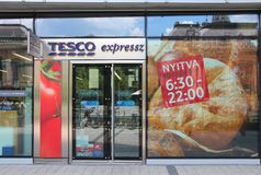 Tesco store Stock Photos