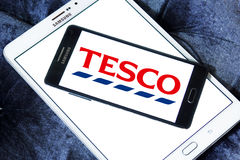 Tesco stores logo Royalty Free Stock Photo