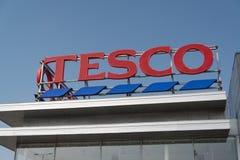 Tesco supermarket Royaltyfria Foton