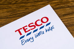 Tesco supermarketlogo Royaltyfri Foto