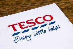 Tesco-Supermarkt-Logo Stockbild