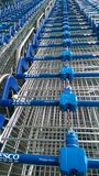 Tesco trolley Royalty Free Stock Images