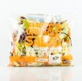 Tesco-zak Zoete en Knapperige Salade Royalty-vrije Stock Afbeeldingen