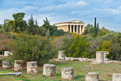 Teseyon in Athens. Stock Photo