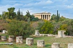 Teseyon en Atenas. Foto de archivo