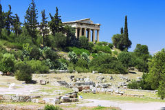 Teseyon (temple of Hephaestus) in Athens Royalty Free Stock Images
