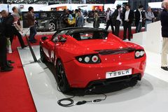 tesla автомобиля электрическое Стоковое фото RF