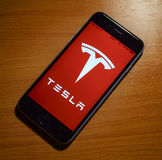 Tesla app Royalty Free Stock Photography