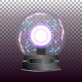 Tesla ball on transparent background Royalty Free Stock Photos