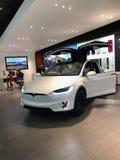Tesla Car In A Showroom stock image