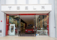 Tesla Car Store Royalty Free Stock Photography