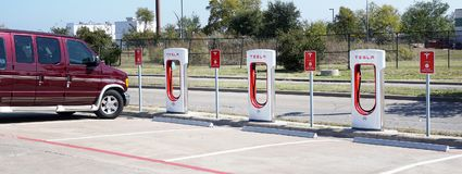 Tesla Charging Station. Stock Image