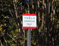 Tesla Charging Station Stock Photography