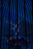 Tesla coil. Royalty Free Stock Photo