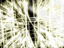 Tesla coil - Wire background Stock Photography