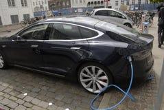 TESLA ELECTRIC CAR Royalty Free Stock Photo