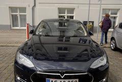 TESLA ELECTRIC CAR Stock Photography