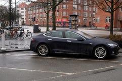 TESLA ELECTRIC CAR Royalty Free Stock Photos