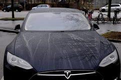 TESLA ELECTRIC CAR Royalty Free Stock Image