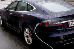 TESLA ELECTRIC CAR Royalty Free Stock Images