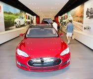 Tesla electric car showroom Stock Image