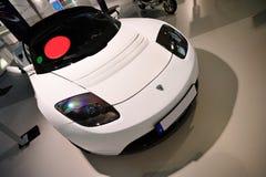 Tesla elektrisches Auto Stockfotos