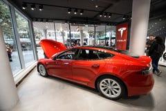 Tesla machine shop in Frankfurt Royalty Free Stock Photo