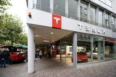 Tesla maszynowy sklep w Frankfurt obrazy stock