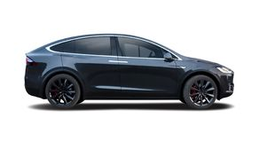Tesla Model X car stock photography