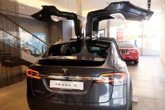 Tesla Model X electric car stock images