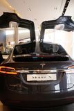 Tesla Model X electric car stock photography