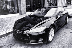 Tesla Model S Battery Powered Electric Car Royalty Free Stock Images
