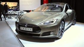 Tesla Model S electric car stock video