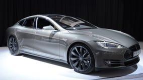 Tesla Model S electric car stock footage