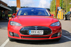 Tesla Model S Electric Car stock photography